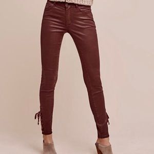Pilcro Script Coated High-Rise Jeans Anthropology